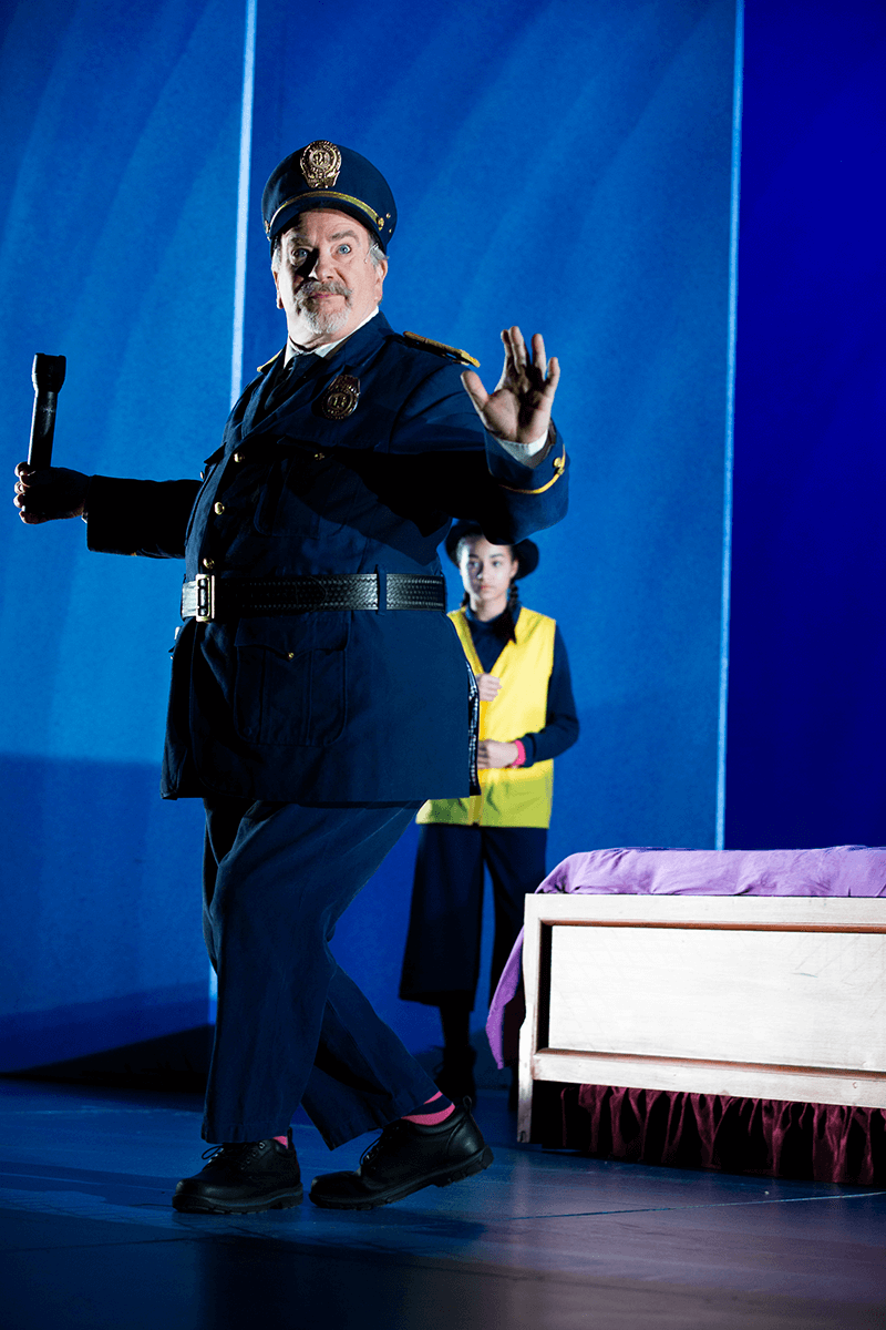 Rob Burgess in SCT's 2019 production of Corduroy. Photo by Angela Sterling.